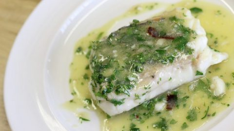 Hake recipe in green sauce