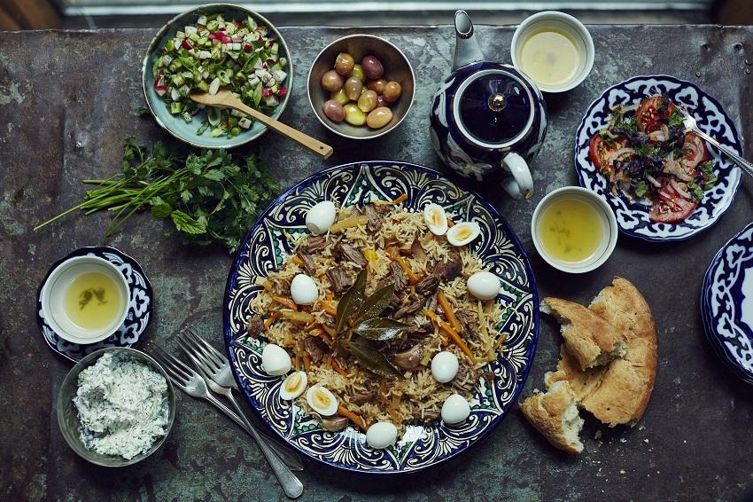 Typical food of Uzbekistan
